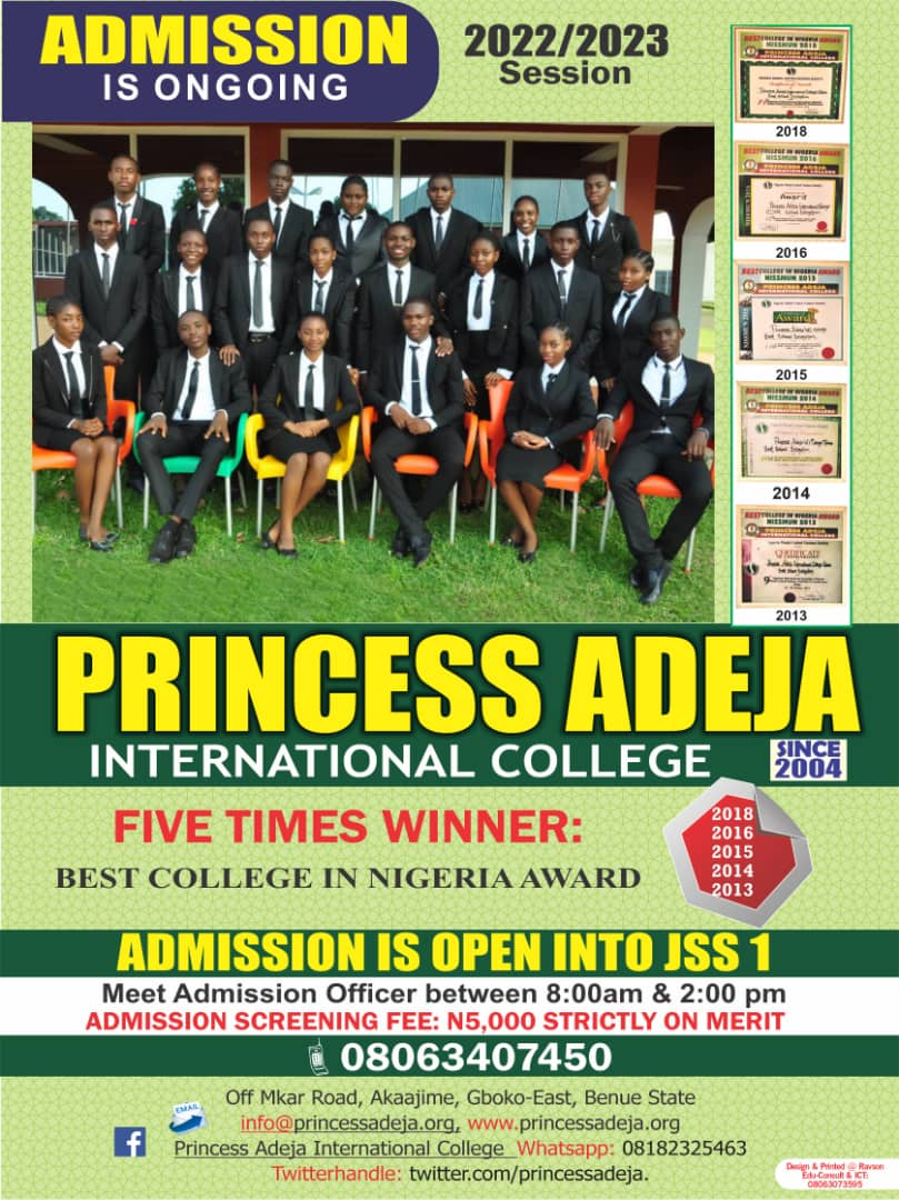 PRINCESS ADEJA INTERNATIONAL