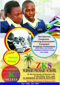 Zks Collegeschools in Ikotun, Alimosho local government  in Ikotun/Egbeda/Ipaja